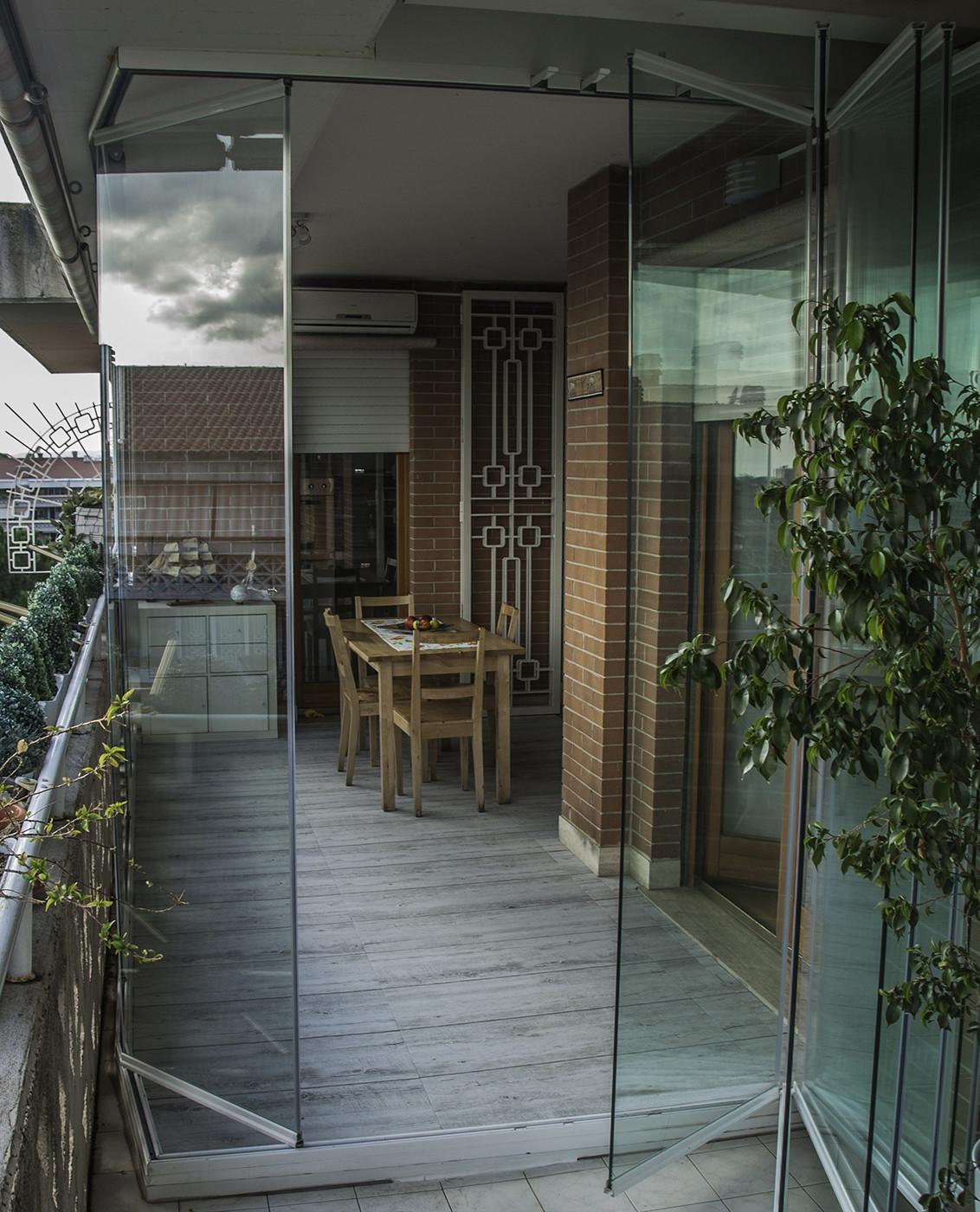 Vetrate a pacchetto verande in vetro zaza design - Porte scorrevoli a pacchetto ...