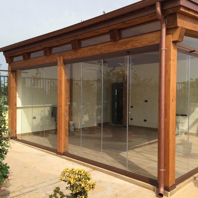 Vetrate a pacchetto verande in vetro zaza design - Vetrate per terrazzi ...
