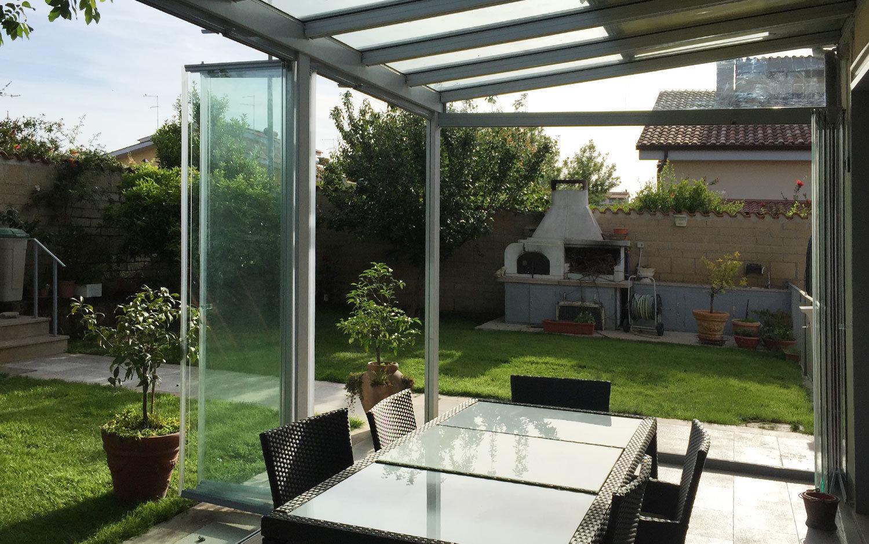 Serra bioclimatica chiusura con vetri extra chiari zaza for Serra bioclimatica prezzi