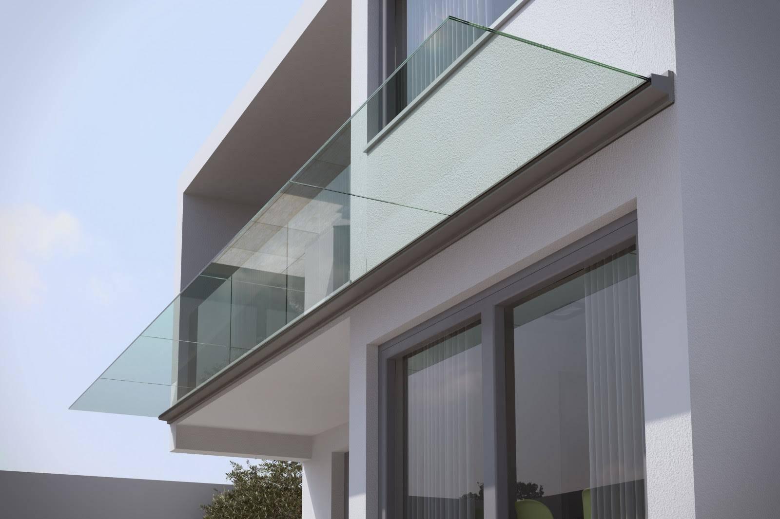 pensiline in vetro per esterno