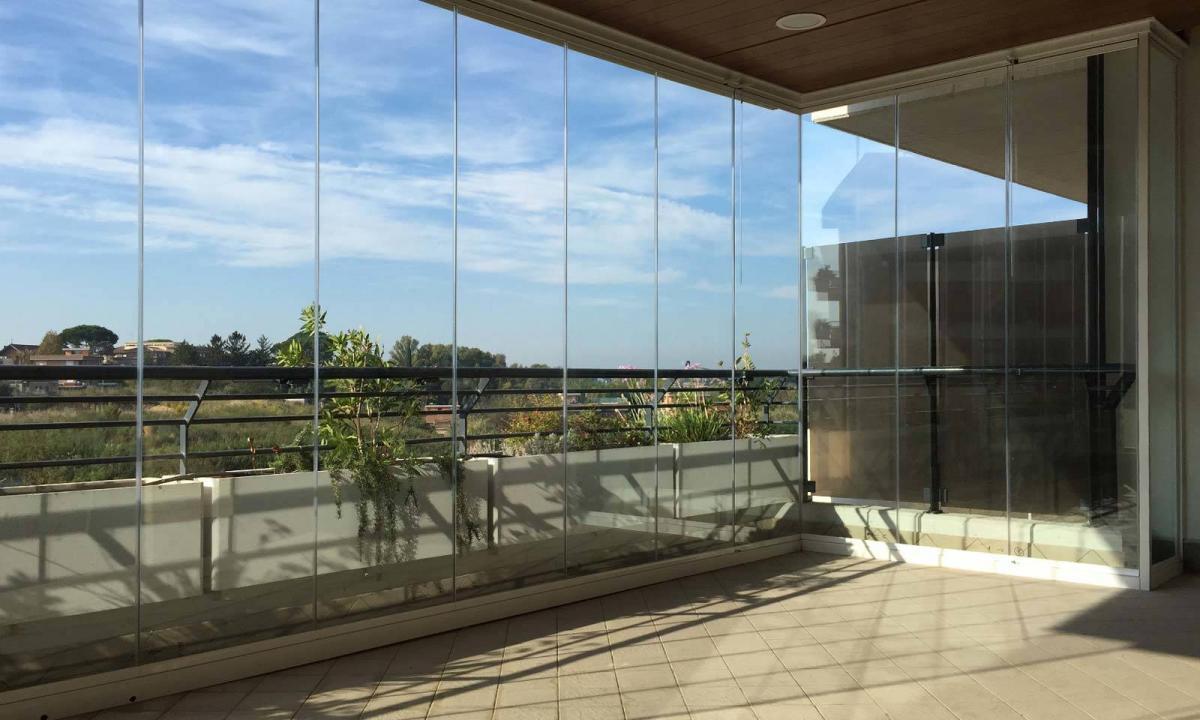 Coprire Terrazzo Con Veranda vetrate a pacchetto per balconi e terrazze | super