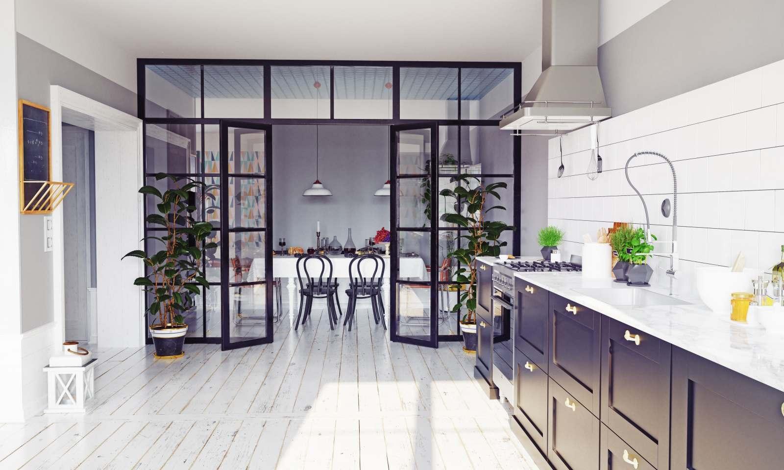 Come Separare Cucina E Soggiorno vetrate per dividere soggiorno e cucina: idee e consigli