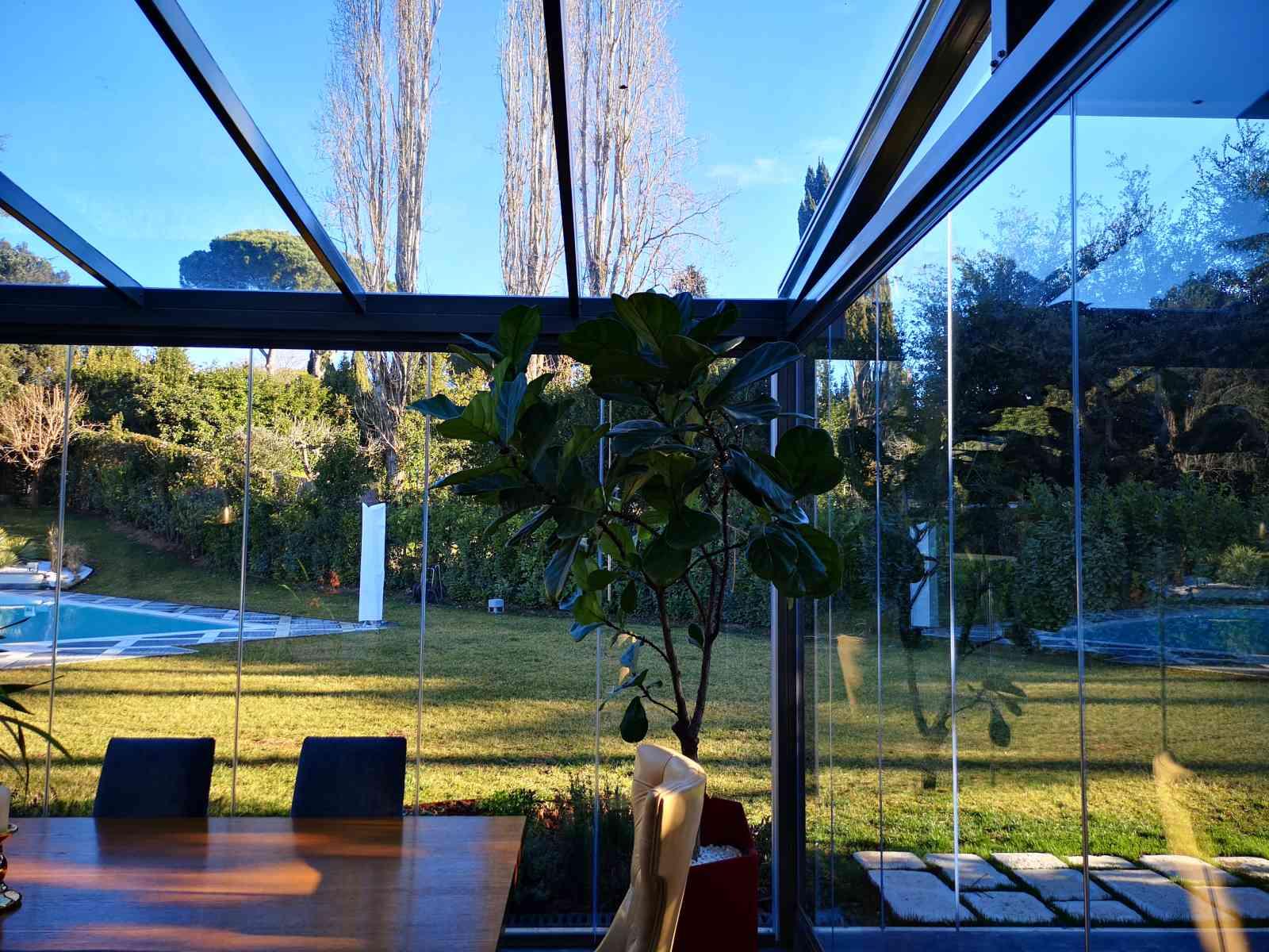 anfolo serra bioclimatica in vetro
